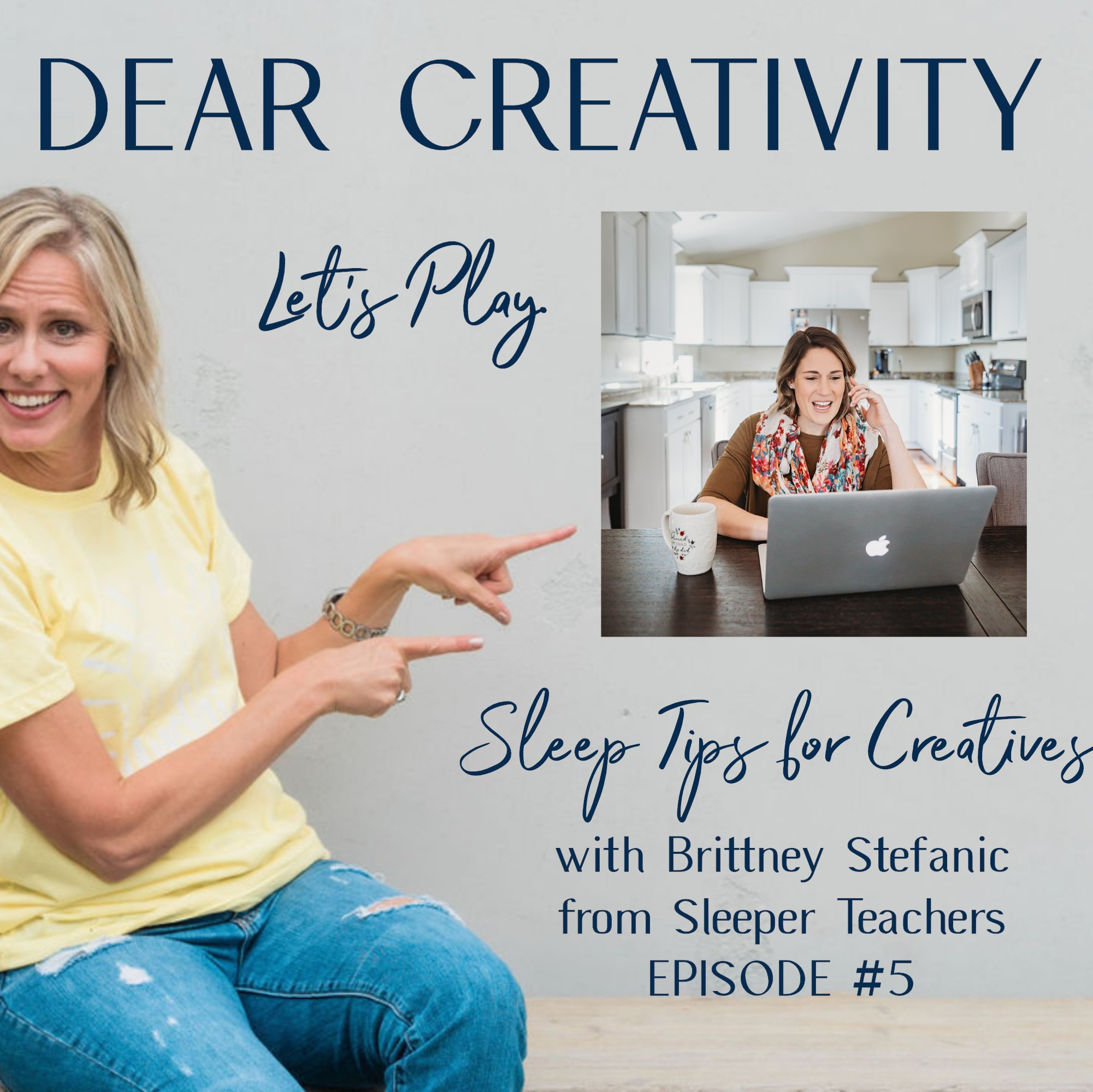 brittney stefanic sleep tips podcast graphic
