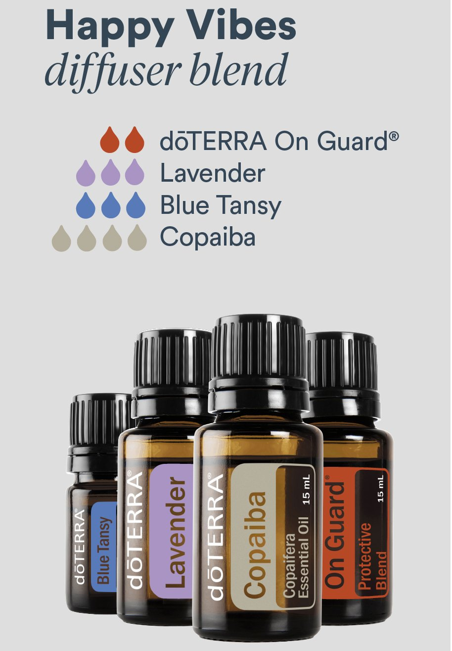 Fill a diffuser with water, add a few drops of oil, and the diffuser magically disperses the oils into the air making your house smell great and feel calming!