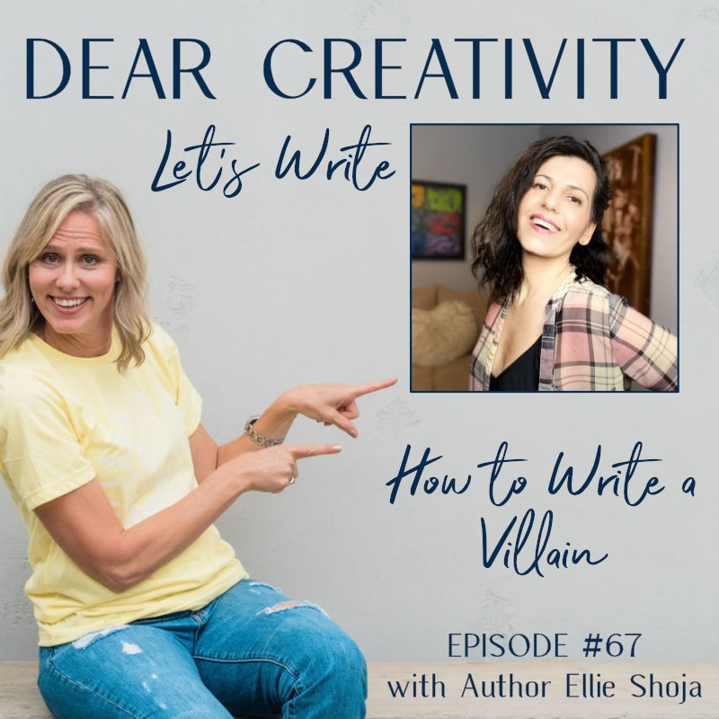 how to write a villain podcast episode graphic
